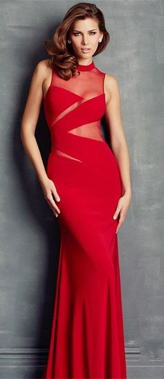 fabulous red mermaid prom dress, love this one