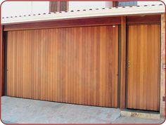 portões-de-madeira-garagem Bike Room, Fence Gate, Credenza, Garage Doors, Outdoor Decor, House, 1, Home Decor, Exterior