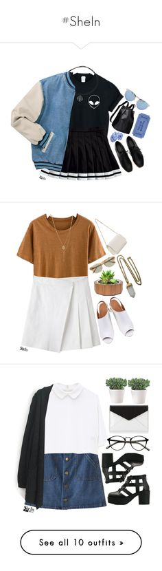 """""""#SheIn"""" by credentovideos ❤ liked on Polyvore featuring Illesteva, rag & bone, J.Crew, Dot & Bo, Lacey Ryan, Rebecca Minkoff, KEEP ME, Sourpuss, CB2 and H&M"""