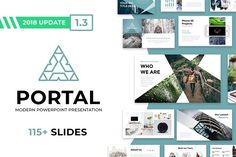 Portal Modern Powerpoint Template by Reshapely on Portal is a Clean and easy to customize Powerpoint Template. Each of the images used are under the license and are included Affiliate ad link. Design Presentation, Presentation Templates, Presentation Slides, Business Brochure, Business Card Logo, Corporate Business, Create Powerpoint Template, Keynote Template, Change Picture