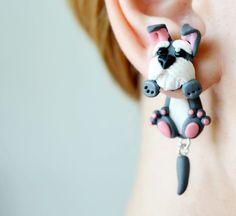 Ohrstecker - Schnauzer Ohrringe, Hund Ohrstecker, Ohrhänger - ein Designerstück von JewelryandPleasure bei DaWanda