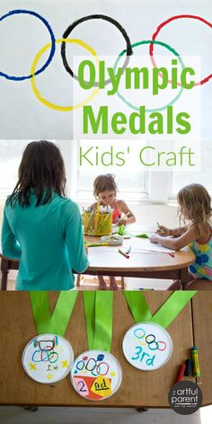 DIY Olympic Medals for Kids Craft
