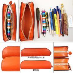 【Le Bonheur】Leather pencil Case / Buttero