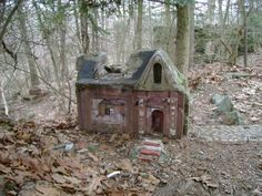 LITTLE PEOPLE'S VILLAGE, in Middlebury Ct. is said to be haunted by demons. Strange and creepy story. The weirdest thing is probably that no one has been able to uncover who really built the tiny village.