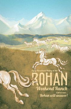 Rohan Travel Poster