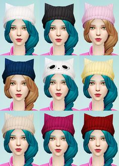 Knit Beret and Cat Ear Beanies 2 individual hats with 9 colors each! These will work with most hairs and there will be some clipping on others hairs…it's not too much so we hope that it won't be much...