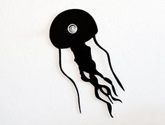 Jellyfish Jellies - Wall Hook / Coat Hook / Key Hanger. SPECIFICATIONS❂ The Hook is made of black acrylic 3mm thick ❂ Screw the knobs directly into your wall and hang what you want :) Better to Install plastic anchor ( i will provide one for concrete walls ) on your wall first, i recommend using a plastic anchor appropriate for the material your walls is made of. ( 05⁄32in - 4mm ) ❂ If you don't want to make a hole in your wall, choose the option with a double sided tape ( for up to..