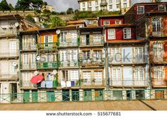 PORTO, PORTUGAL - JUN 21, 2014: Colour houses of the Douro Valley of Porto, the second largest city in Portugal and it was called the European Culture Capital in 2001