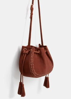 Leather bucket bag - Bags  Plus sizes | OUTLET Lithuania