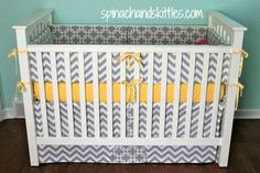 DIY baby bedding(skirt and bumper)