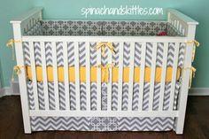 DIY baby bedding(skirt and bumper)