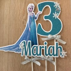 Frozen Birthday Cake, Frozen Party, Birthday Cake Toppers, Girl Birthday, Elsa Cakes, Frozen Cake Topper, Personalized Cake Toppers, Glitter Cards, Frozen Printable
