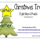 Put the star with the matching sight word on the correct Christmas tree. Contains all the words on the Dolch First Grade list. Great for literacy w...