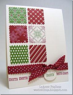 Easy to Make Christmas Simple Card