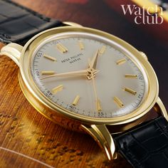 Just arrived on watchclub.com is this magnificent yellow gold vintage #Patek ref 2481, manufactured in 1956