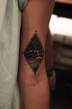 Really cool way to do a constellation tattoo. Ursus Major. Big Dipper.