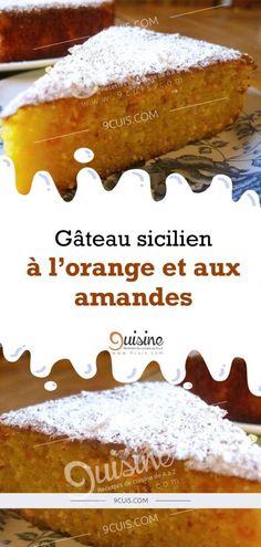 Sicilian orange and almond cake No Cook Desserts, Easy Desserts, Dessert Recipes, Orange Recipes, Sweet Recipes, Orange And Almond Cake, Orange Dessert, Pie Crumble, Pie Cake