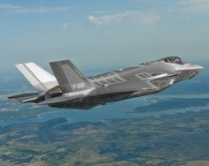 The first F-35 for the Royal Netherlands Air Force flies over north Texas on its first flight Aug. 6 2012. The aircraft took off from Lockheed Martins Fort Worth Texas facility for a 1.7-hour flight.