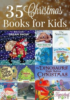 35 Christmas books for kids. Classics, old favorites, and great new books to share! These make great gifts as well. Christmas Books For Kids, Preschool Christmas, Christmas Activities, Christmas Themes, Activities For Kids, Christmas Crafts, Xmas, Classroom Activities, Christmas 2019