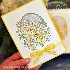 Card created using Lovely Lattice & Organdy Ribbon from Stampin' Up!® by Sue Vine Birthday Cards For Women, Happy Birthday Cards, Pink Crafts, Do It Yourself Crafts, Sympathy Cards, Stamping Up, Flower Cards, Homemade Cards, Stampin Up Cards