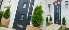 Front Composite Doors from Micron Home Improvements in Orpington, Kent. Lovely wood effect front doors with no maintenance. Composite Front Door, Roof Lantern, Energy Efficient Homes, Garage Doors, Front Doors, Door Stop, Windows And Doors, Contemporary Style, Lanterns