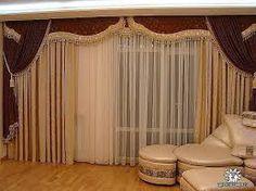 resultado de imagen para modelos de cortinas para salas con cenefas
