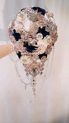 Navy Blue And Gold Wedding, Gold Wedding Gowns, Gold Wedding Theme, Gold Wedding Decorations, Rose Gold Wedding Dress, Wedding Flowers, Silver Weddings, Rose Gold Bridesmaid, Wedding Navy