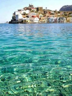 the bluegreen waters of kastelorizo island greece