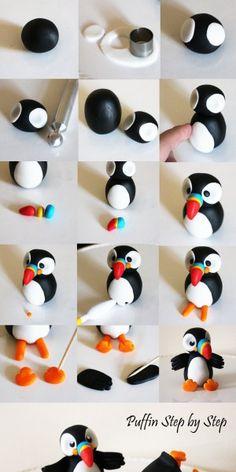 Pinguin aus Fondant