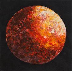 """ red Planet- Procyon 16S""- Acryl auf Leinwand 50 x 50 cm  Mit Spachtel erstellt. Contemporary Art, Original Artwork, Painting on canvas, Abstract Painting, Art Collage, Contemporary Art, Canvas, Palette Knife, Tela, Collages, Canvases, Collage Art, Modern Art"