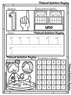 Kindergarten Math Activities, Preschool Education, Preschool Curriculum, Preschool Classroom, Preschool Worksheets, Numbers Preschool, Homeschool, Learning Centers, Math Centers