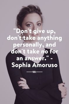 SO incredible! Read about Sophia Amoruso, the founder of Nasty Gal's best piece of business advice for other women who want to become successful entrepreneurs.