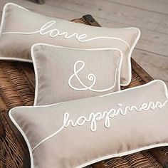 love & happiness pillows