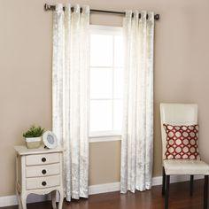 Velvet Grommet Top Curtain Panels