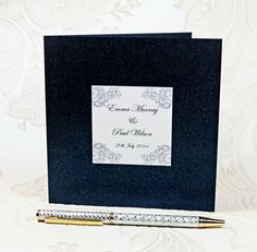 ROMANTICA RECTANGLE 3 FOLD WALLET WEDDING INVITATION WITH RSVP CARD