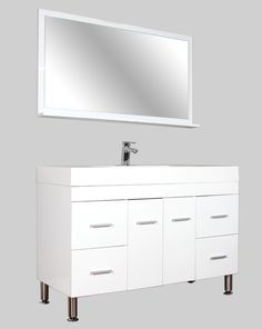 "AT-8042-W 47"" Single Modern Bathroom Vanity Set 