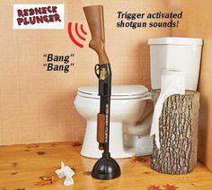 Shotgun Plunger - #plunger #shotgun #funny #toilet #men #gift  - http://madeofmillions.com/shotgun-plunger/