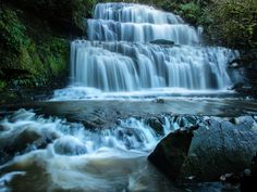 Purakaunui Waterfall NZ by PaulEmmingsPhotography on 500px.