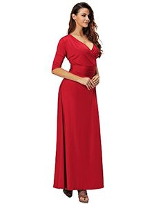 Aofur Womens Evening Dress Black Ball Gown Prom Evening Party Formal Long Maxi Dresses Plus Size Small Red >>> See this great product-affiliate link. #SweatersForWomen
