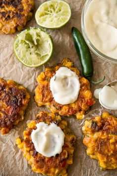 Crispy, savory, and easy corn fritters are all mixed together in 1 bowl. Serve with a cool and creamy honey jalapeño yogurt dip!