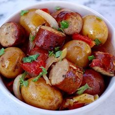 Hi! Let me just say that if you are short on time, have picky eaters, and want an easy one-pot meal, then look no further because this is it. You can prep this crockpot potato sausage meal in a few minutes and have a delicious dinner in no time. Put the potatoes and the …