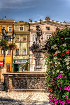 Fountain in Świdnica, Poland - #Sumfinity HDR Photography