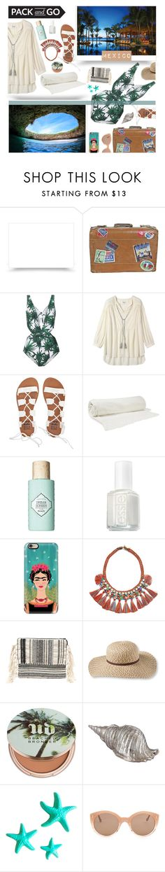 """""""Pack and Go: Mexico City"""" by giogiota ❤ liked on Polyvore featuring Toast, Billabong, Balenciaga, Benefit, Essie, Casetify, Tory Burch, Amuse Society, L.L.Bean and Urban Decay"""