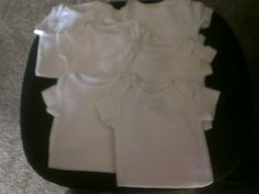Are any of you Illinois Mamas feeling crafty? This set of 6 plain white onsies is a steal and perfect for decorating to your own tastes. Click below and let the seller know that you want them!