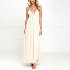White Sexy Cut Out Backless Deep V Neck Party Maxi Dress