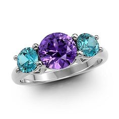 Just look at this Transcendental Love Three-Stone Ring. This is why I love Gemify!