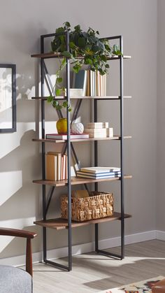 Add some fresh style to your home organization with gorgeous bookshelves from Ov., Add some fresh style to your home organization with gorgeous bookshelves from Overstock, where you'll find unique styles to complement any space and s. Wood Bookshelves, Wood And Metal Shelves, Metal Storage Shelves, Ladder Shelves, Room Divider Shelves, Metal Bookcase, Modern Bookshelf, Unique Shelves, Bookshelf Desk