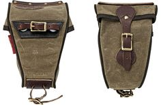 Water Resistant Canvas Bike Saddle Bag - Kaufmann Mercantile
