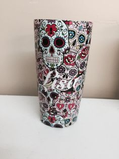 Sugar Skulls Oz Yeti Cup Lonestar Concepts Design - Sugar skull yeti cup