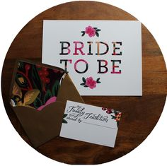 Bride to Be sign and Family Tradition cards | Rock Paper Scissors | #floral #wedding shower goodied